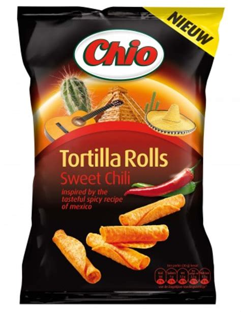 Chio chips Tortilla rolls sweet chili Mexico - De Rooij