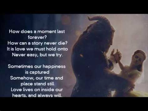 Céline Dion - How Does A Moment Last Forever? (Only Lyrics