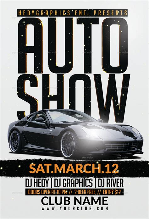 Auto Show - Flyer Template by HedyGraphics | GraphicRiver