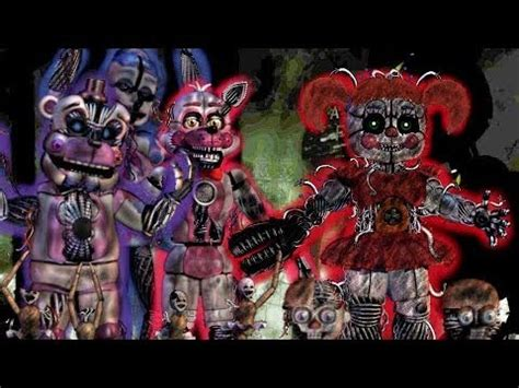 (FNAF SPEED EDIT) Withered Sister Location Animatronics